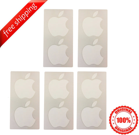 Original Apple Logo Stickers from iPhone/iPad/iPad Mini NEW (5 Lots x  2 Pieces)