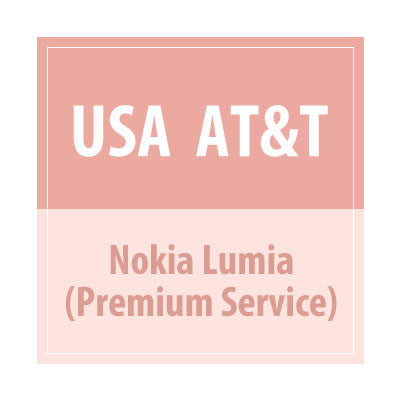 USA AT&T Nokia Lumia Premium Service - Delivery Time : 72 Hours