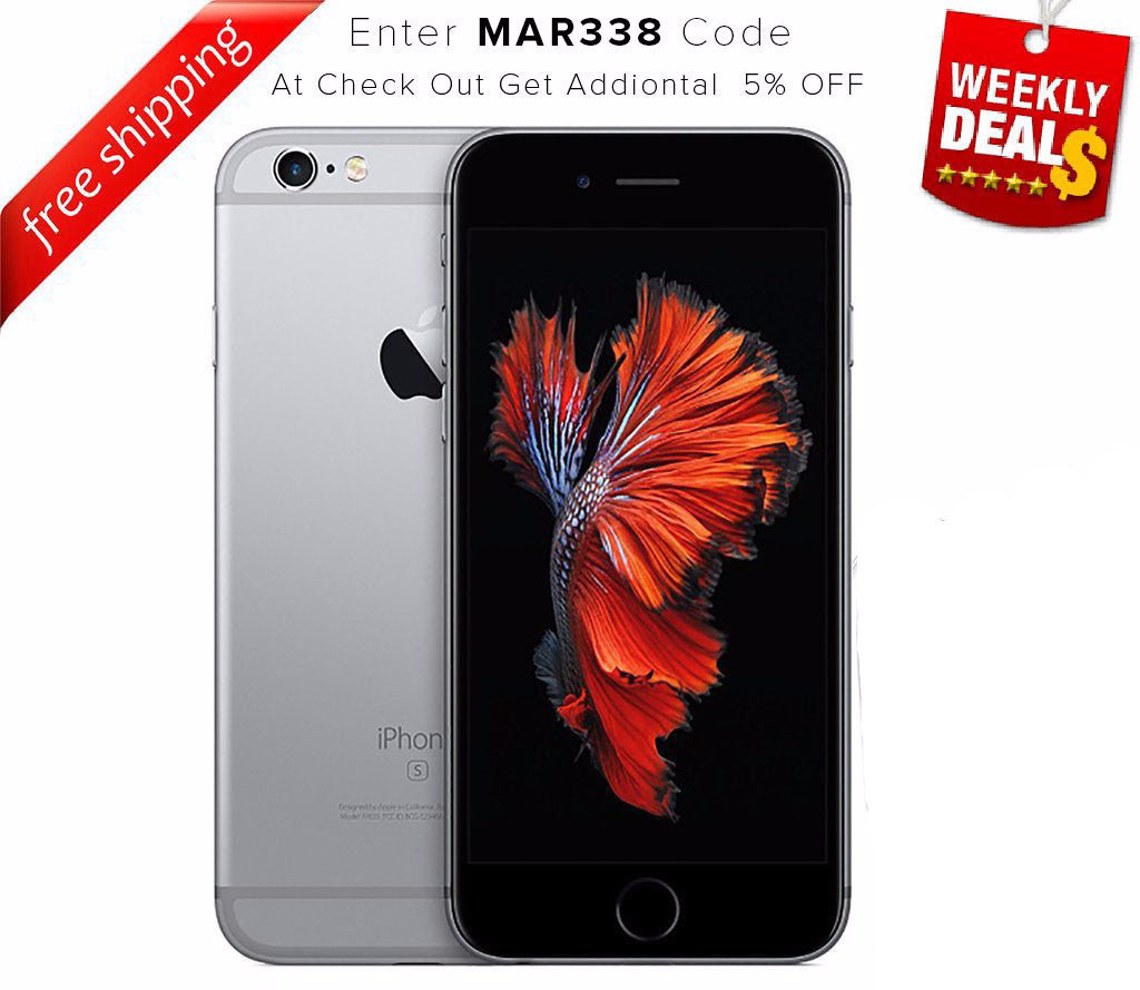 Original iPhone 6S 4G LTE GSM Factory Unlocked Space Gray (16GB)  - Refurbished - WEEKLY DEAL PRICE