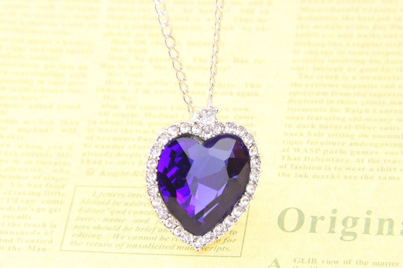 Titanic necklace heart of ocean crystal pendant necklaces yeastore titanic necklace heart of ocean crystal pendant necklaces aloadofball Choice Image