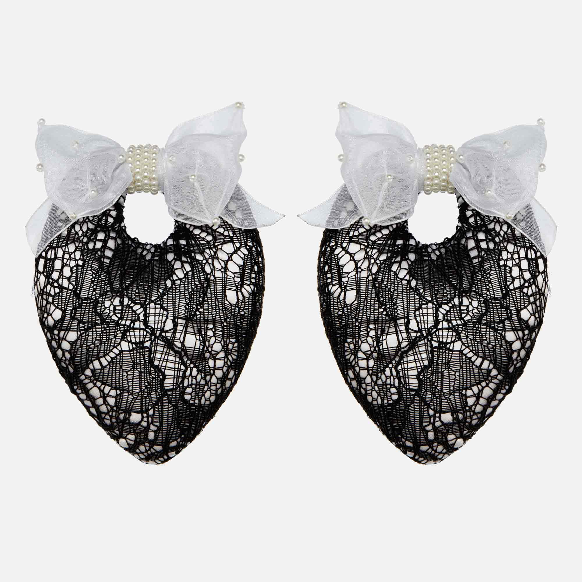 Sophisticated Black Lace Shoe Stuffers