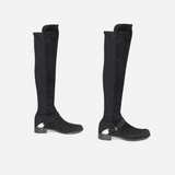 Black Suede Tall Boot Shapers
