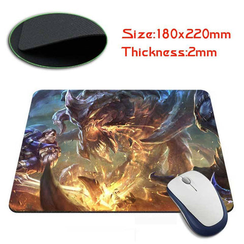Mouse Pad - League Of Legends Garen Vs Cho'Gath's Mouse Pad