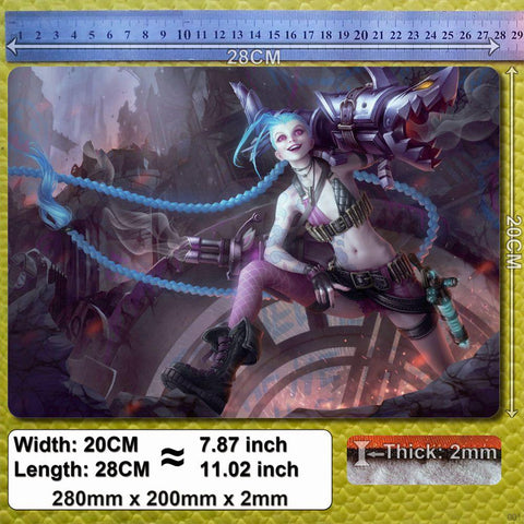 Mouse Pad - League Of Legends Jinx Mouse Pad's