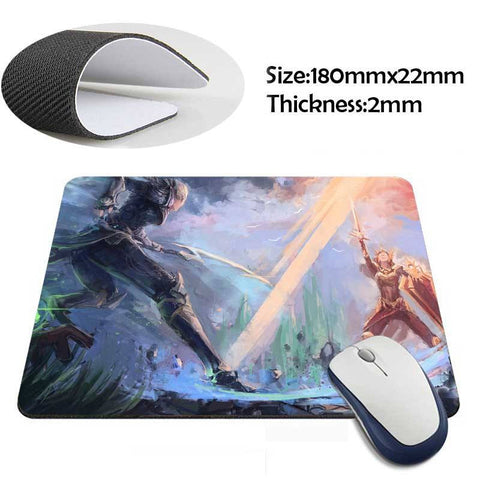 Mouse Pad - League Of Legends Leona Vs Diana Mouse Pad