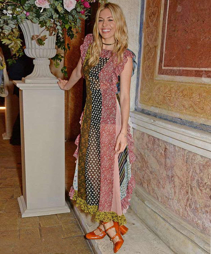 Sienna Miller spotted in Mary Walnut Heels