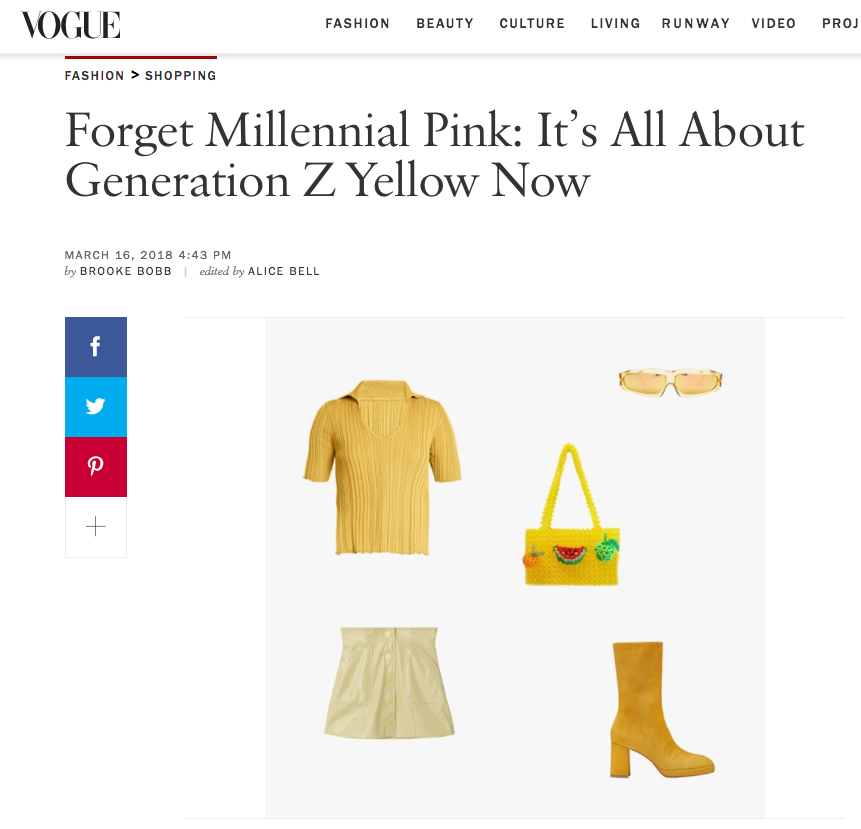 Miista Carlota Yellow Suede Featured In Vogue
