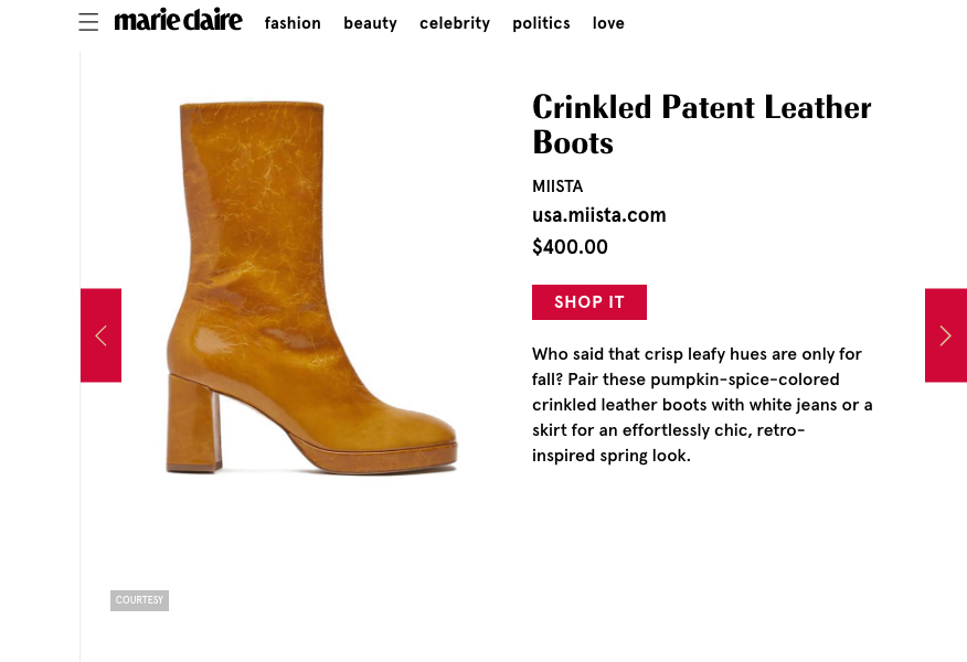 Carlota Indian Yellow Featured In Marie Claire