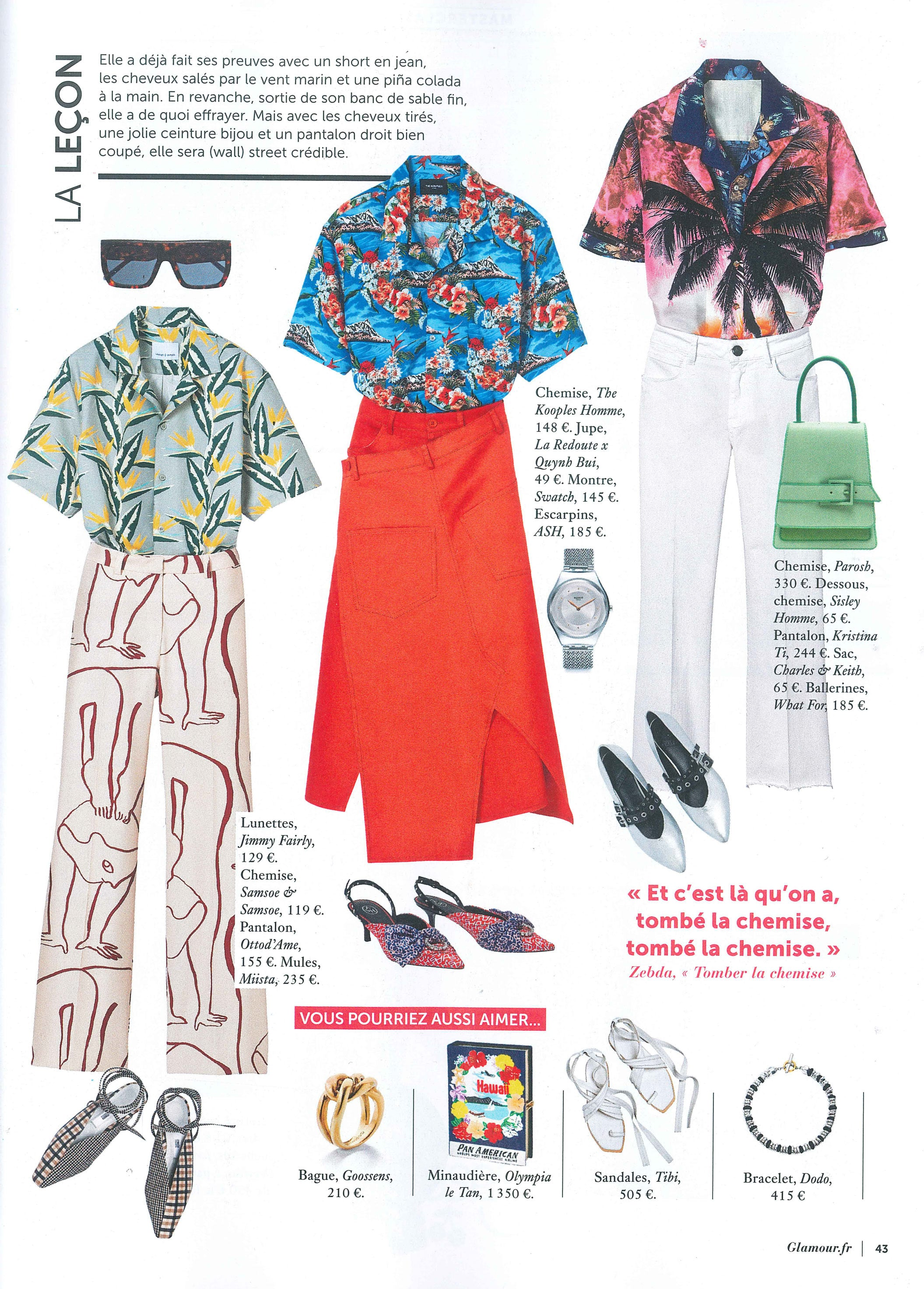 Pierette Navy Cream featured in GLAMOUR FR