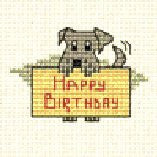 Birthday Dog - Stitchlets Greeting Card