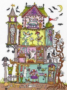 Cut Thru' Haunted House Cross Stitch Kit