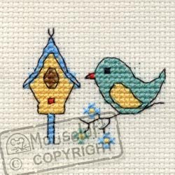 Bird & Birdhouse - Stitchlets