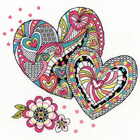 Henna Heart Pippa Ellison Cross Stitch Kit