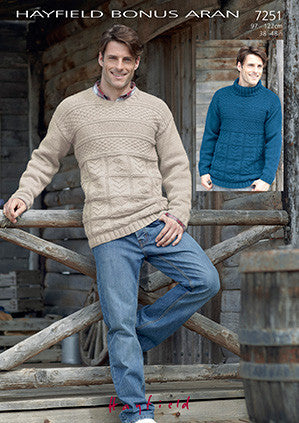 Hayfield Bonus Aran F119-7251 Digital Download Pattern