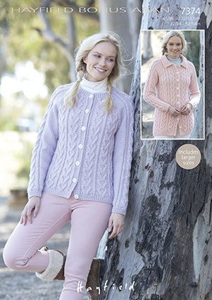 Hayfield Bonus Aran F119-7374 Digital Download Pattern