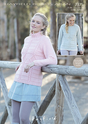 Hayfield Bonus Aran F119-7375 Digital Download Pattern
