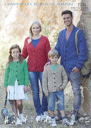Hayfield Bonus 400g Aran Wool - Women's Cardigan Pattern