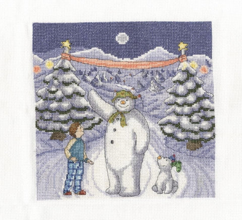 Snowman & Snowdog The Finish Line Cross Stitch Kit