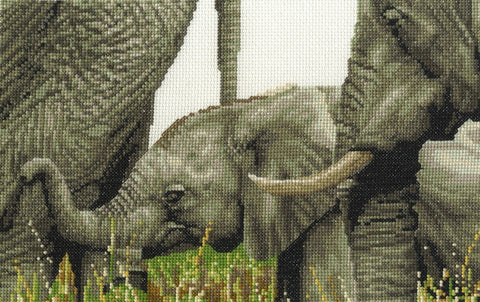Safari Animals Always By My Side Cross Stitch