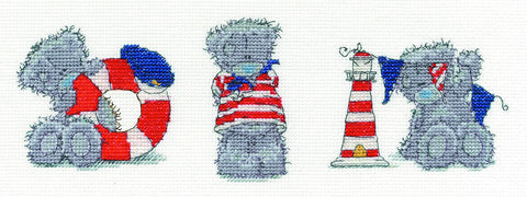 Me to You Tatty Teddy - Three Little Sailors Cross Stitch Kit
