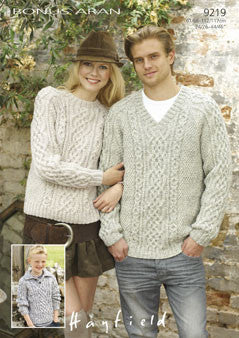 Hayfield Bonus 400g Aran Wool - Sweater Pattern