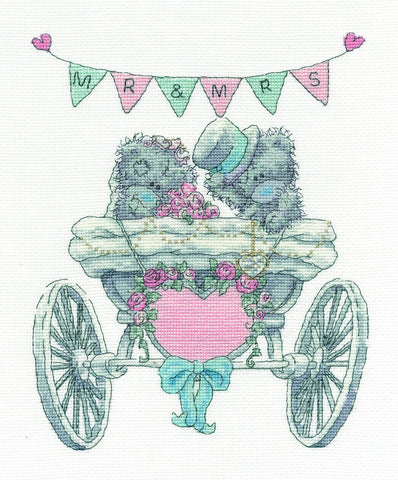 "Me to You Tatty Teddy ""Mr & Mrs"" Cross Stitch Kit"