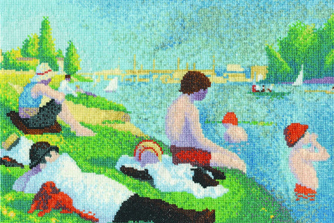 "The National Gallery Seurat ""Bathers at Asnieres"" Cross Stitch Kit"