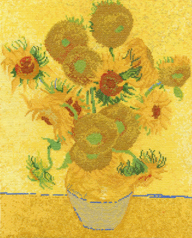 "The National Gallery Van Gough ""Sunflowers"" Cross Stitch Kit"