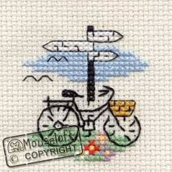 Bicycle and Signpost - Stitchlets