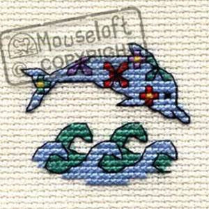 Floral Dolphin - Stitchlets