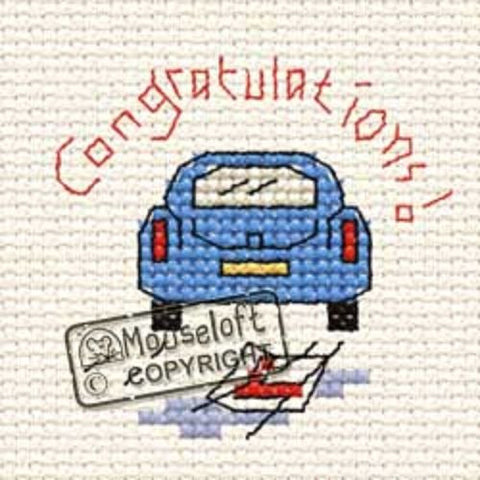 Driving Test - Stitchlets Greeting Card