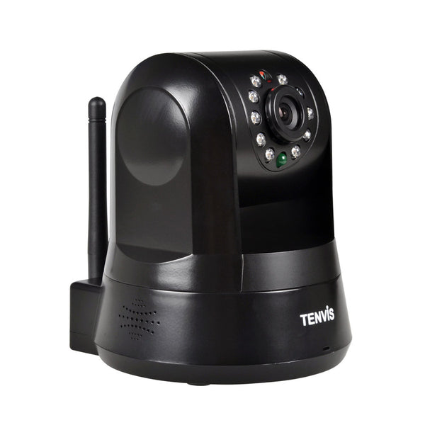 Tenvis IPROBOT3 Black 720p HD P2P Pan and Tilt Wireless IP Network Security Camera