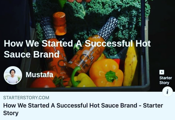 How We Started A Successful Hot Sauce Brand- Starter Story