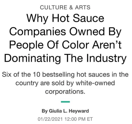 Why Hot Sauce Companies Owned By People Of Color Aren't Dominating The Industry- HuffPost Culture & Arts