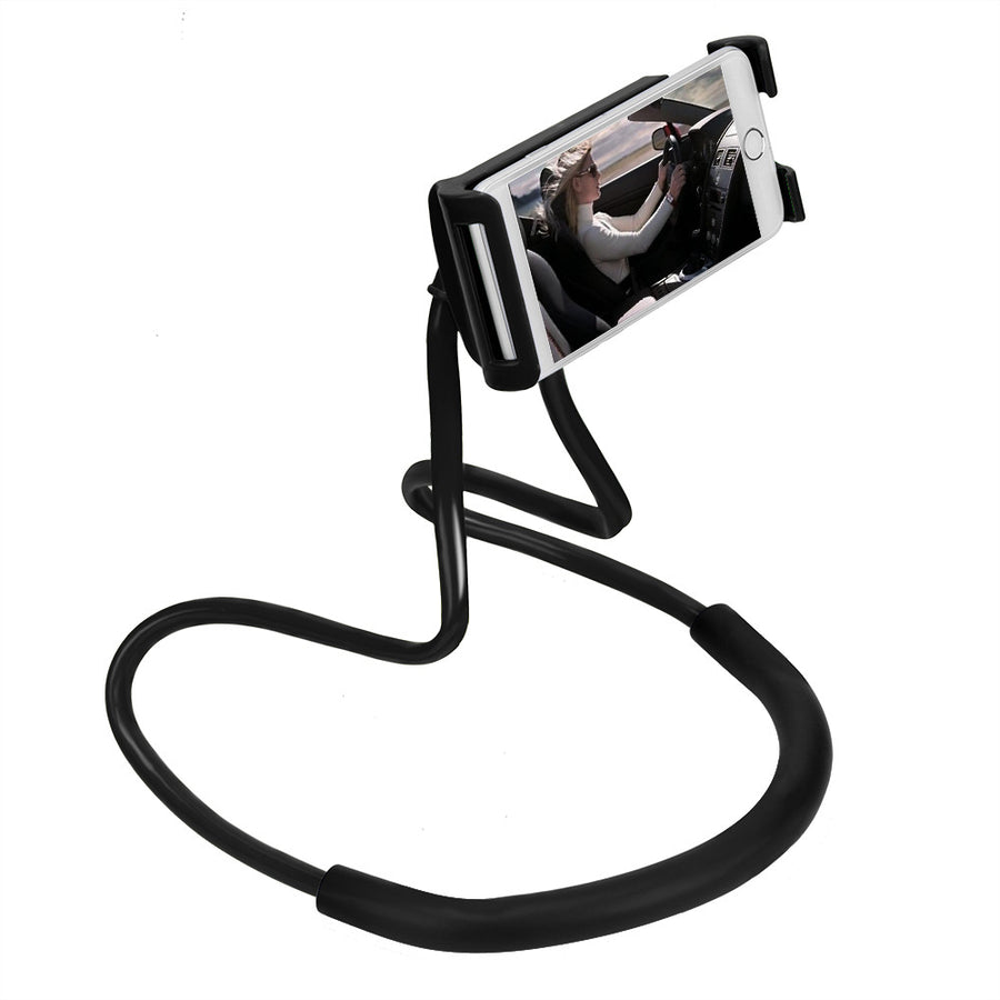 360 Degree Rotation Lazy Bendable Flexible Hang Neck Phone Holder - Repair Bull