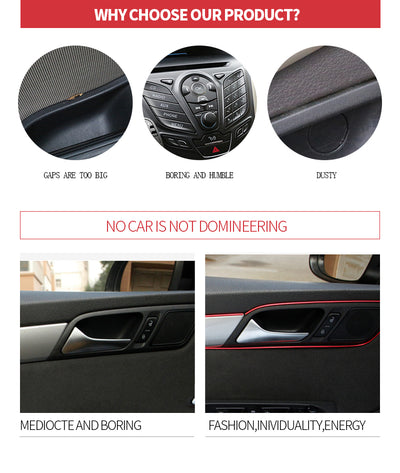5m Car Interior Moulding Decorative Strip - Repair Bull