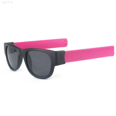 Slap Fashion Sunglasses Creative Wristband Slappable Glasses Snap Bracelet Bands - Repair Bull