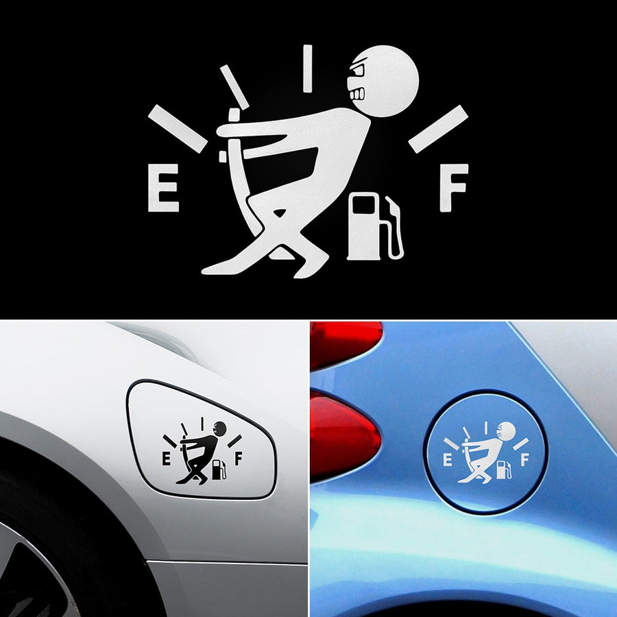 Fuel Tank Pointer Reflective Vinyl Car Sticker Decal - Repair Bull