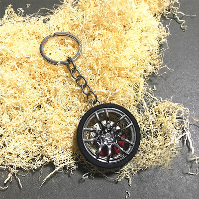 Mini Style Car Wheel Keychain - Repair Bull