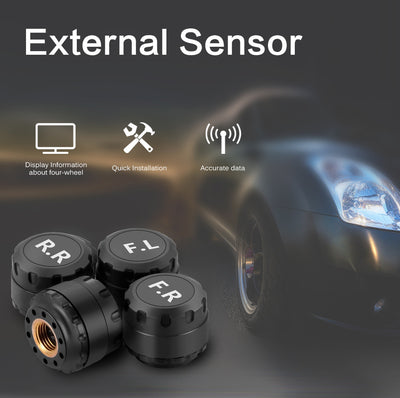 Solar Powered Wireless Car Tire Pressure Alarm Monitor System - Repair Bull