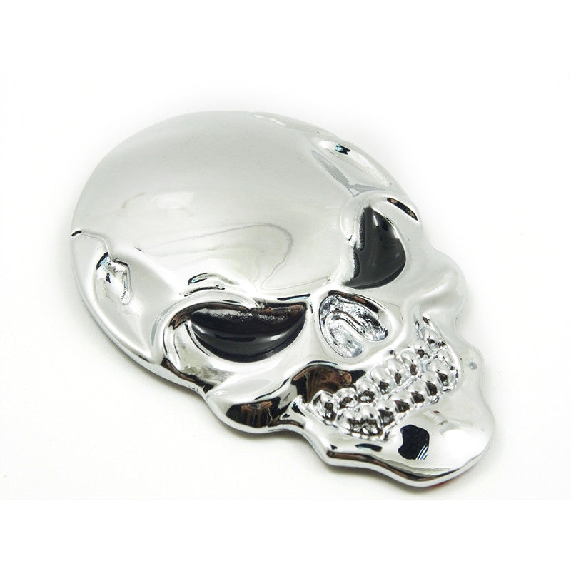 Mini Style 3D Metal Skull Car Sticker Logo Emblem - Repair Bull