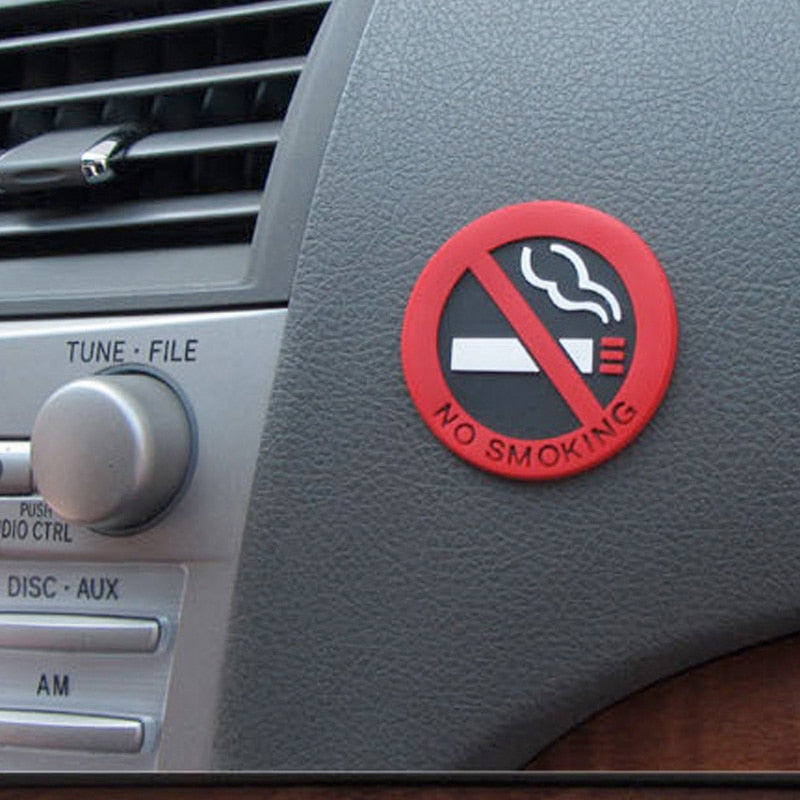 No Smoking Signage Car Vinyl Sticker - Repair Bull