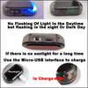 Anti-theft Fake Solar Power Car Alarm with LED Blue Light - Repair Bull