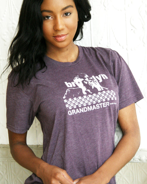 "Brooklyn ""Grandmaster,"" Bobby Fischer (w/ Game of The Century) Unisex Triblend Tee"