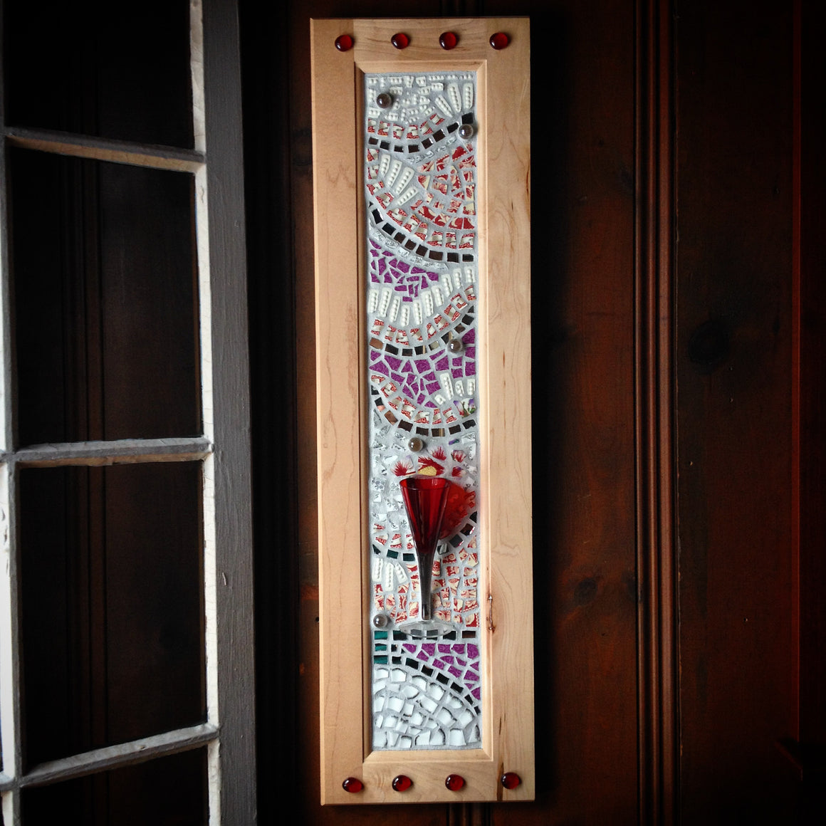 Red Glass at a Party (sold)