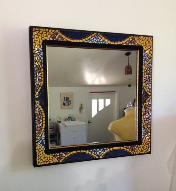 Blue Curtain Mirror
