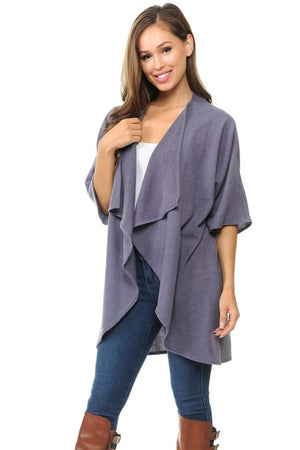 Purple Open Cardigan