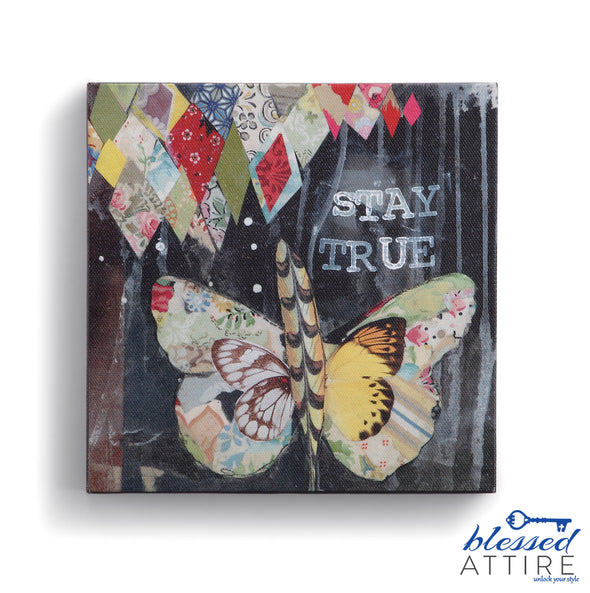 """Stay True"" Watercolor Canvas"