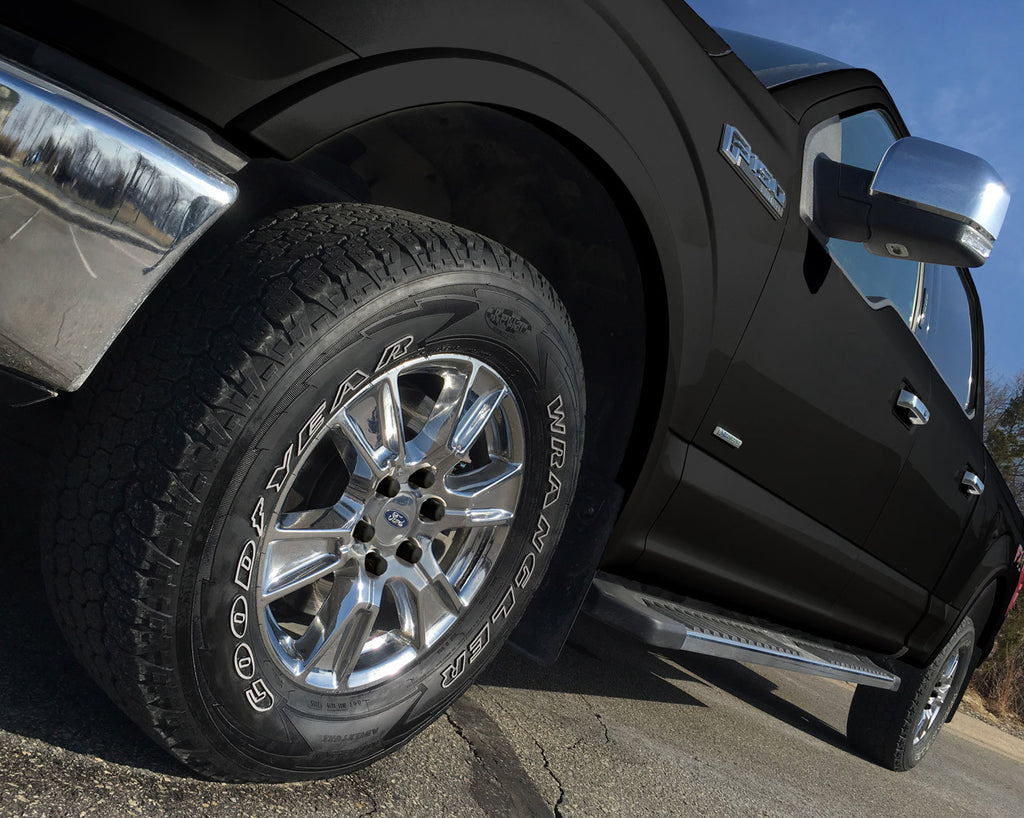 ColorLugs Black Colored Lug Covers On Silver Truck Wheel