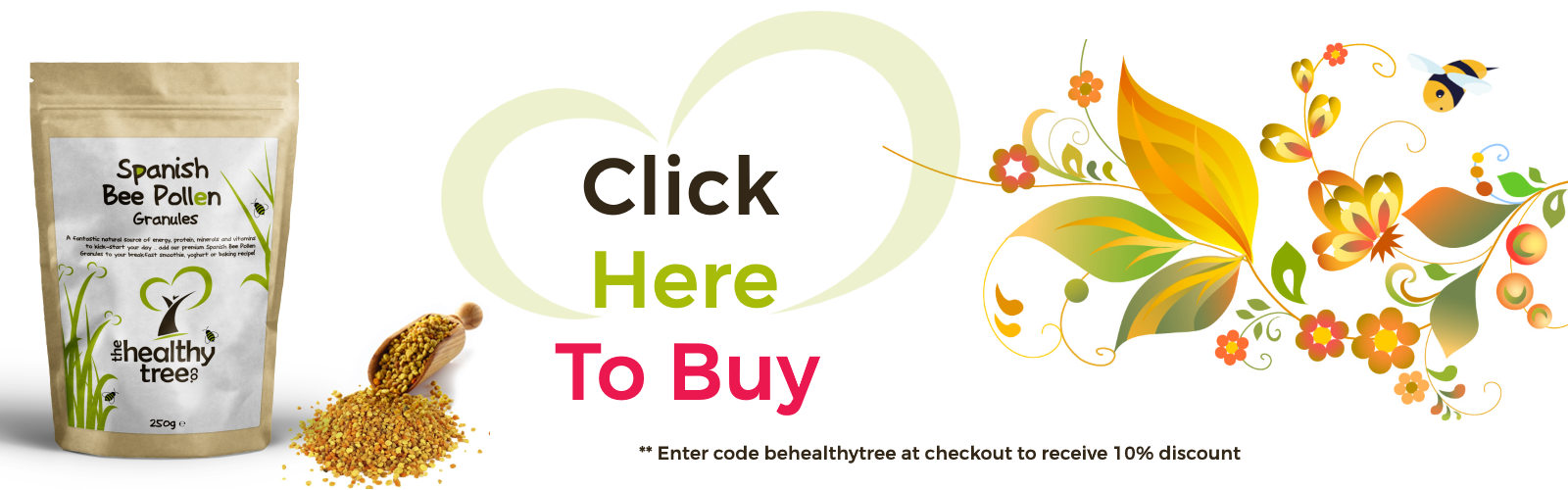 Buy Bee Pollen Online from The Healthy Tree Company